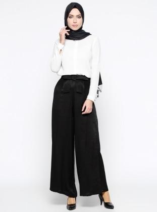Bol Paça Pantolon - Siyah