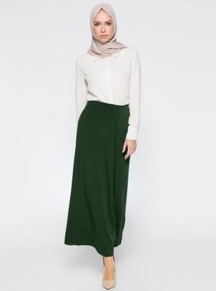 Zinet Pantolon Etek - Yeşil