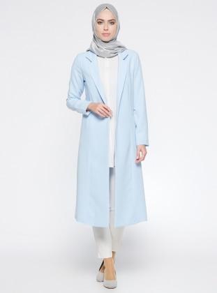 Şal Yaka Ceket - Bebe Mavi Puane