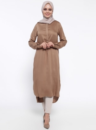 Uzun Tunik - Camel - Cml Collection