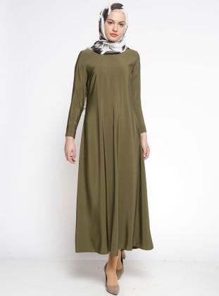 Düz Renk Elbise - Haki ALLDAY