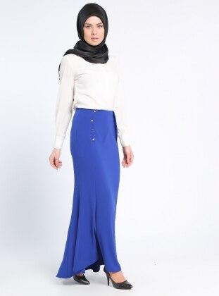 Kuyruklu Balık Etek - Saks - Sevilay Giyim Ürün Resmi