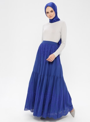 Saxe - Fully Lined - Cotton - Skirt