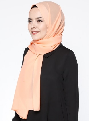 Pano Şifon Şal - Somon Gülsoy