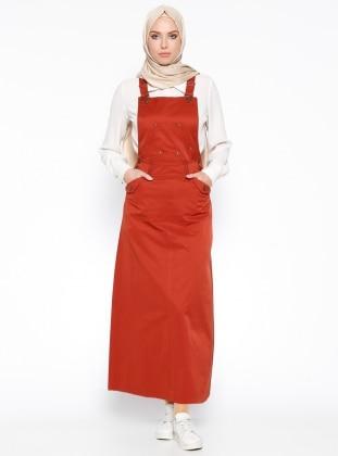 Salopet Elbise - Kiremit Veteks Line
