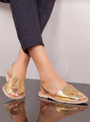 Sandalet - Gold