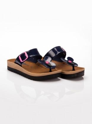 Terlik - Lacivert Ayakkabı Havuzu