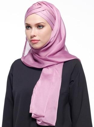 Pink - Plain - Pinless - Silk Blend - Instant Scarf