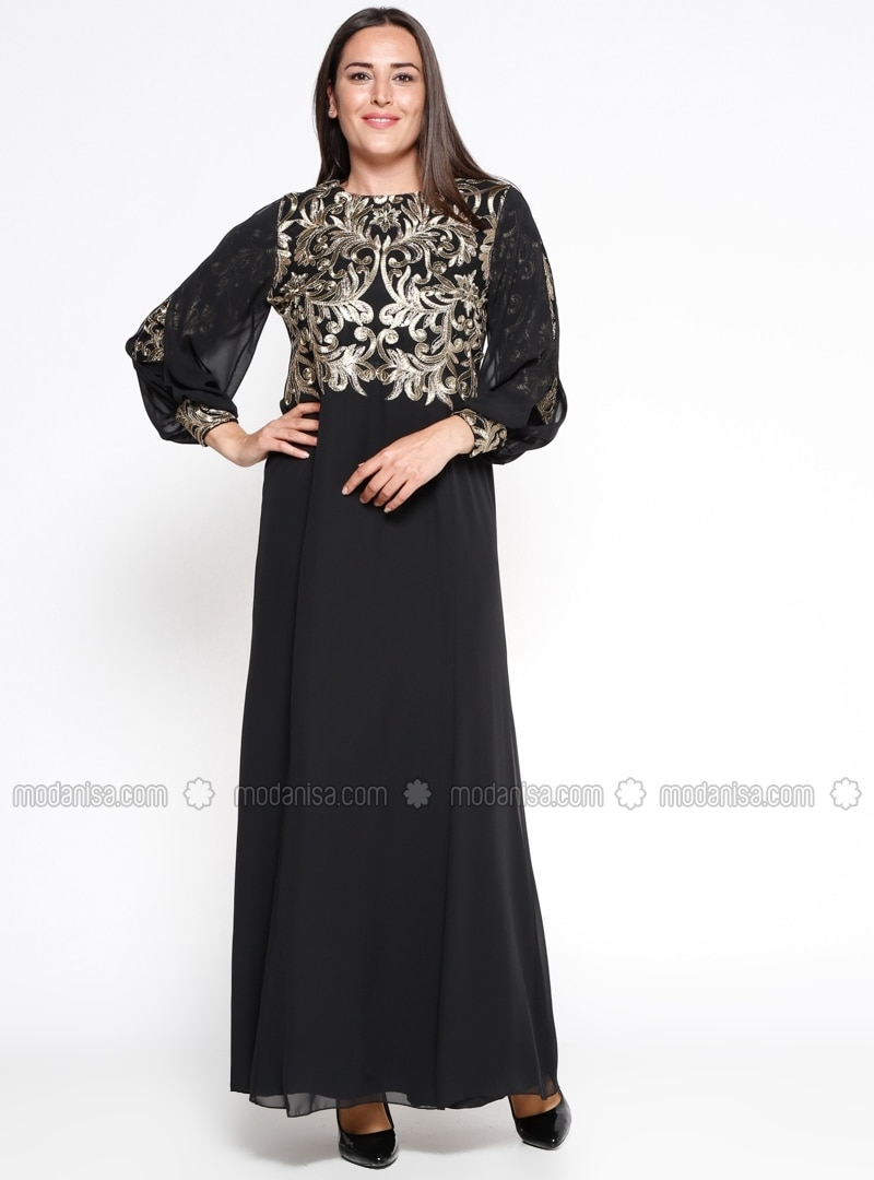 Black Muslim Plus Size Evening Dresses - Shop Women\'s Muslim Plus ...