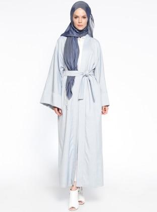 Salaş Abaya - Mavi Ekru