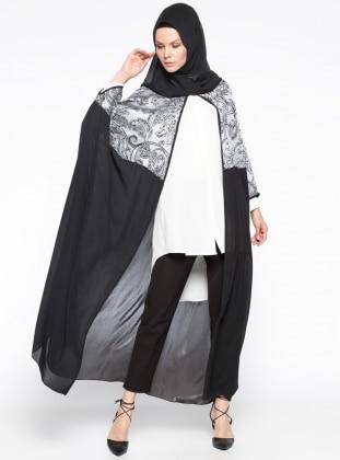 Salaş Abaya - Gri Siyah