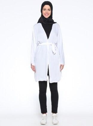 Meryem Acar Yarasa Kollu Kimono - Beyaz