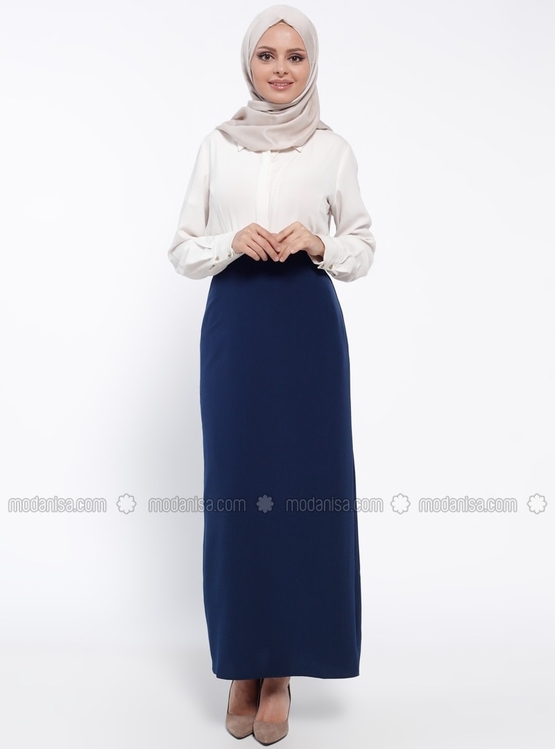 Navy Blue - Fully Lined - Skirt