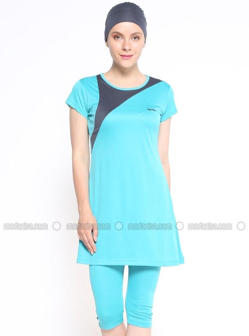 Fabuleux maillots pour femme musulman,Maillot de bain semi couvert et  PJ25
