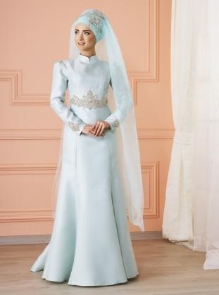 Berra Abiye Elbise - Mint Yeşili