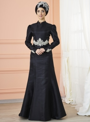 Berra Abiye Elbise - Siyah