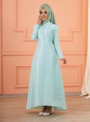 Lola Abiye Elbise - Mint Yeşili