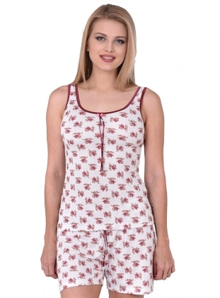 Şortlu Pijama Takımı - Murdum - I&D LINGERIE