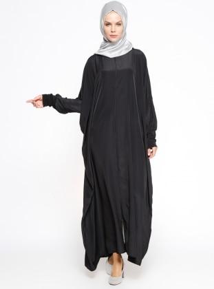 Yarasa Kollu Ferace - Siyah