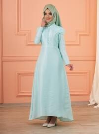 Lola Abiye Elbise - Mint Yeşili - Mevra