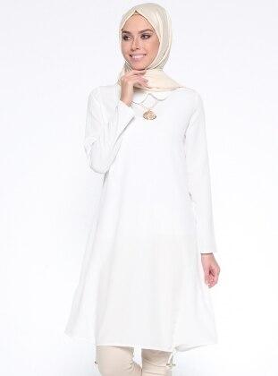 Kolyeli Tunik - Beyaz