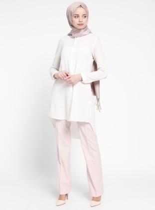 Almera Klasik Pantolon - Pembe