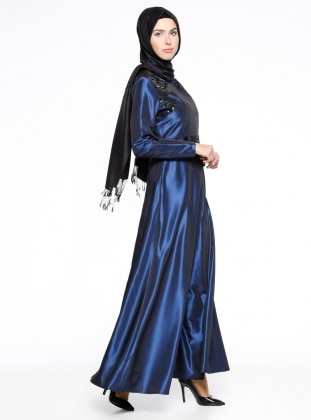 Saxe - Crew neck - Fully Lined - Muslim Evening Dress