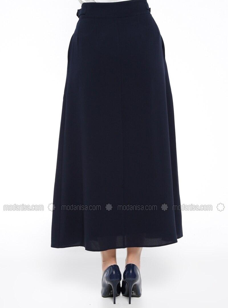 navy blue fully lined skirt armine