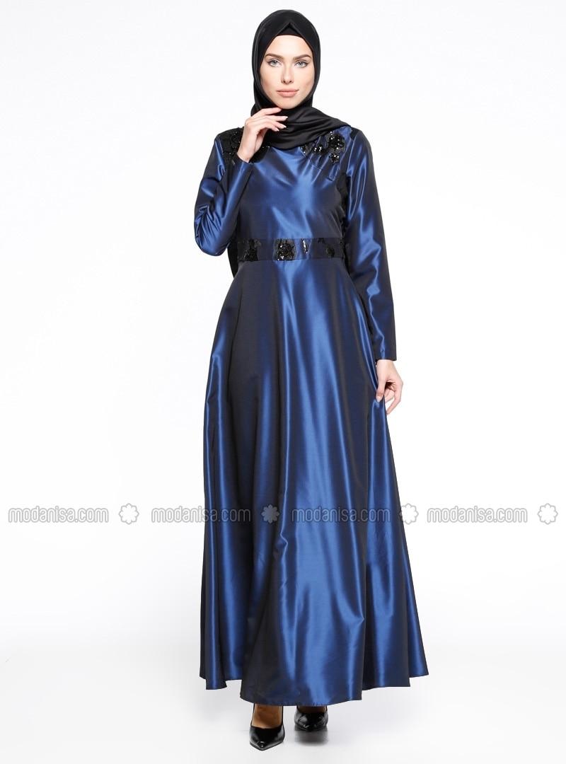 Related pictures armine tak elbise tesett abiye modelleri - Payetli Abiye Elbise Saks Armine