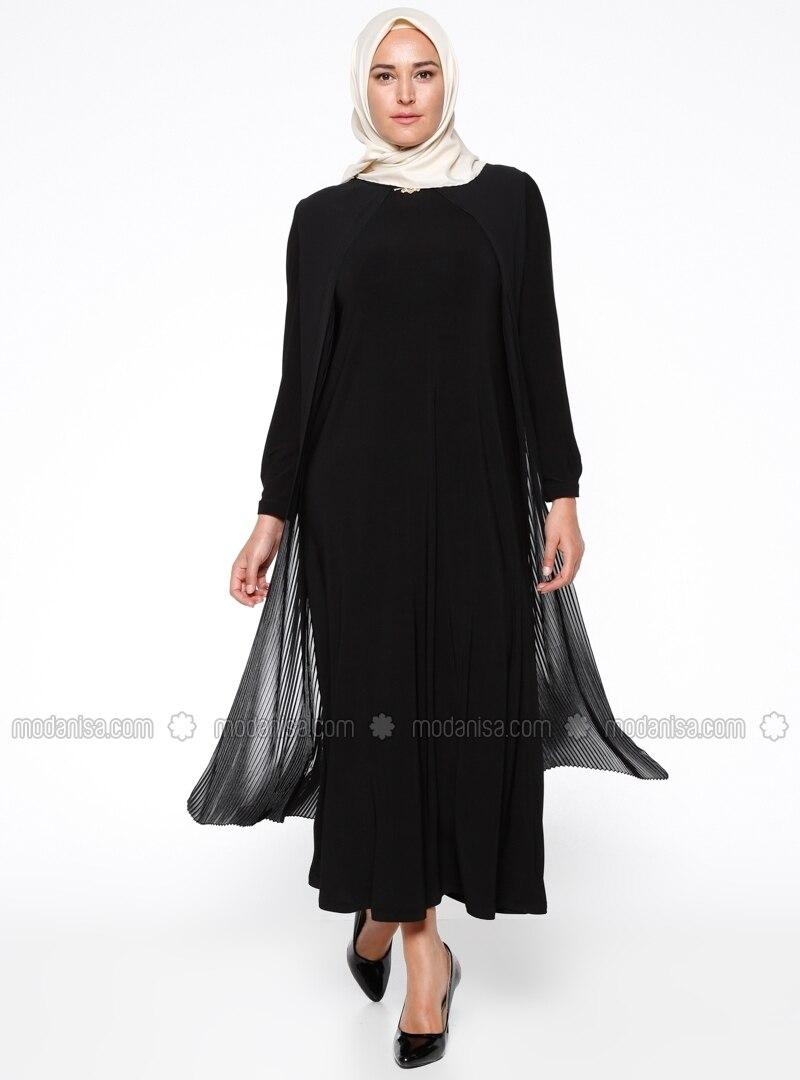 Related pictures armine tak elbise tesett abiye modelleri - Piliseli Abiye Elbise Siyah Armine
