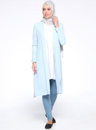 Düz Renk Kap - Bebe Mavisi İLMEK TRİKO