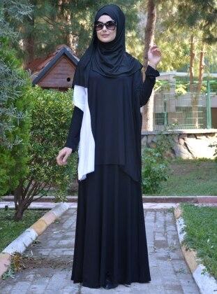 Elbise&Tunik İkili Takım - Siyah Beyaz