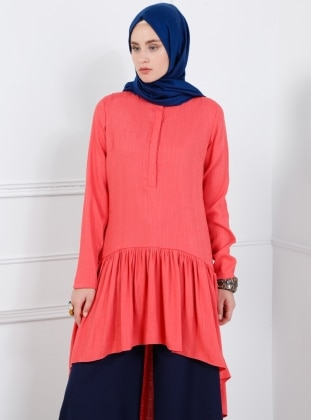 Coral - Button Collar - Tunic - Refka