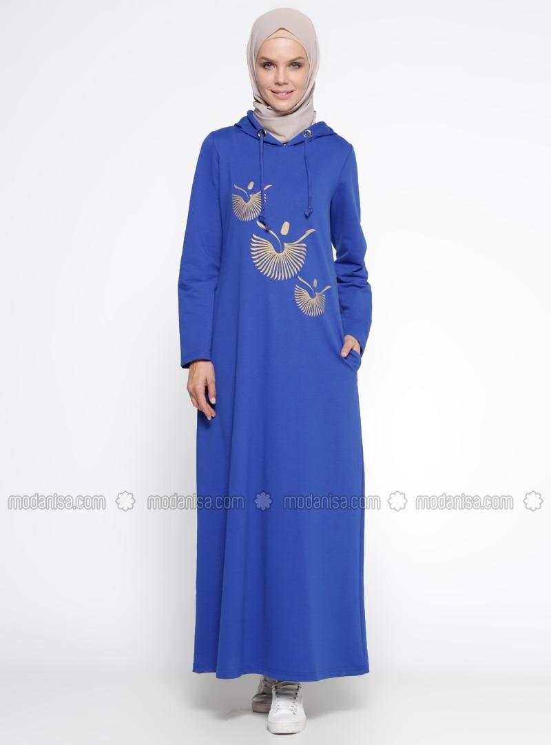 royalblau ohne innenfutter hijab kleid bwest. Black Bedroom Furniture Sets. Home Design Ideas
