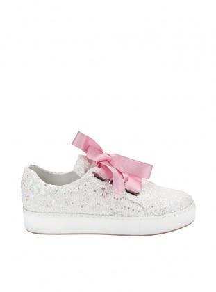 ayakkabı - beyaz simli - zenneshoes