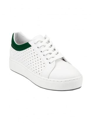 ayakkabı - beyaz yeşil - zenneshoes