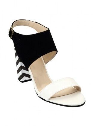 ayakkabı - siyah ekru - zenneshoes