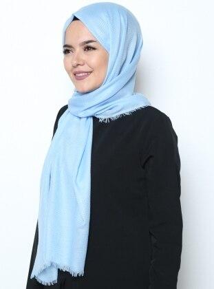 Düz Renkli Şal - Mavi Mervin