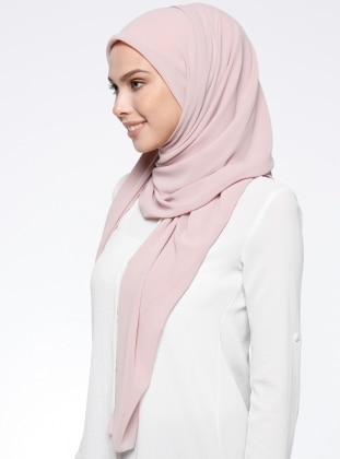 Chiffon - Plain - Powder - Scarf - DIFFERENZA
