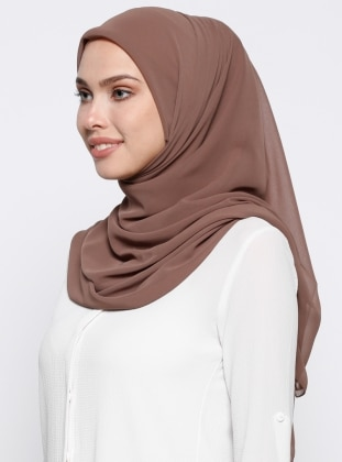 Mink - Plain - Chiffon - Scarf - DIFFERENZA