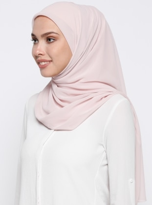 Chiffon - Plain - Powder - Scarf