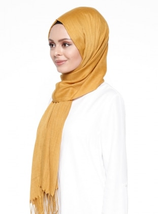 Gold - Plain - Fringe - Shawl