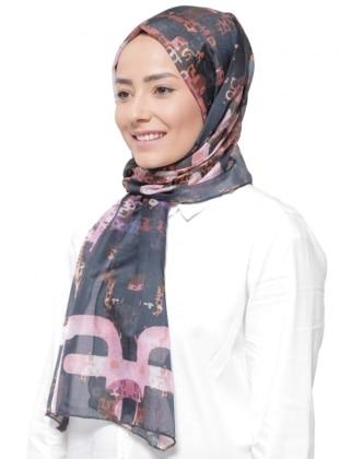 Pink - Multi - Printed - Rayon - Shawl