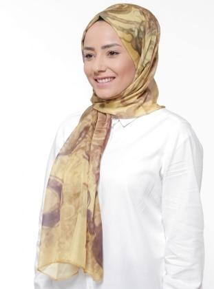Yellow - Multi - Printed - Rayon - Shawl