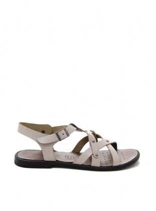 Beige - Sandal - Beige - Sandal - Sandal