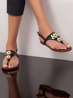 Sandalet - Siyah Ayakkabı Havuzu