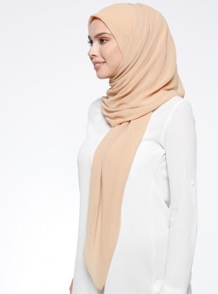 Yellow - Yellow - Plain - Chiffon - Scarf