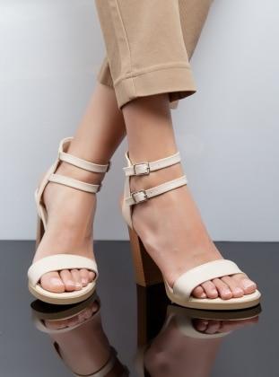 Topuklu Ayakkabı - Bej Ayakkabı Havuzu