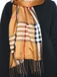 Fringe - Plaid - Gold - Multi - Shawl