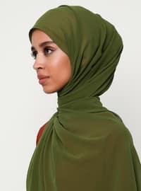 Green - Green - Plain - Chiffon - Shawl